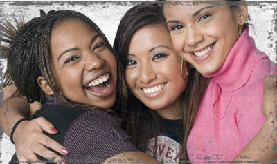 StandUpGirl three girls smiling