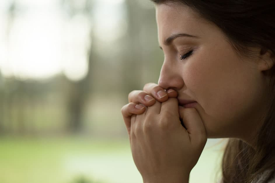 girl asking for forgiveness