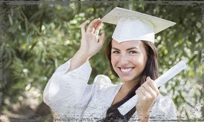 StandUpGirl girl in graduation gown