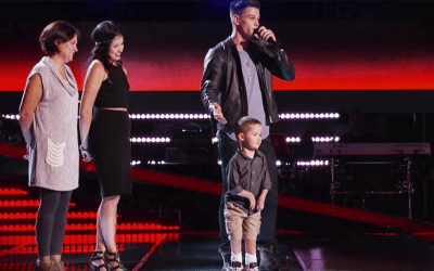 nick hagelin on the voice with son