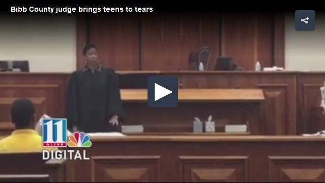 Judge brings teens to tears