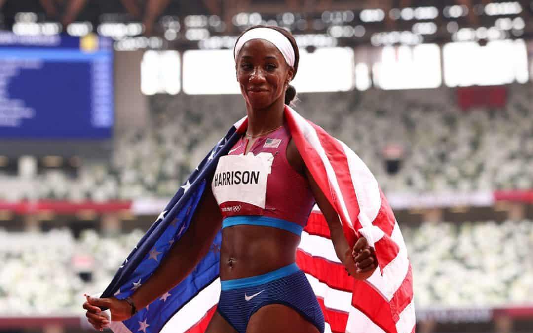kendra Harrison silver medalist